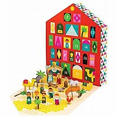 Petit Collage Nativity Pop-Out Advent Calendar