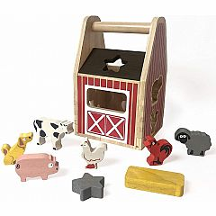 Barnyard Shape Sorter with 8 Animal Shapes
