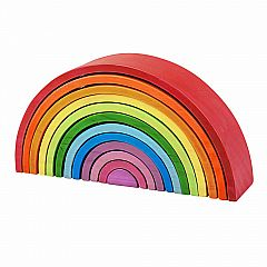 Bigjigs Large Wooden Rainbow Stacker