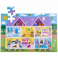 BigJigs Toys Dolls House Floor Puzzle 48-Piece
