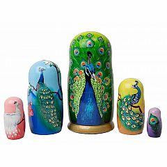 Nesting Doll - Peacock 5 Piece