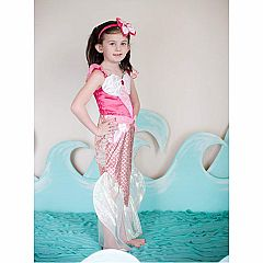 Pink Mermaid Dress & Headband